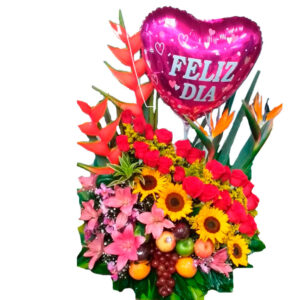 Ramo floral con flores preservadas